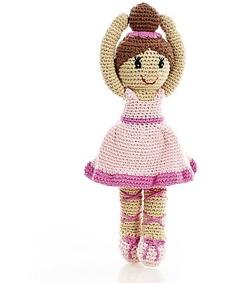 Pebble Once Upon a Time - Pink Ballerina - 30 cm - Fair Trade Crochet Soft Toys