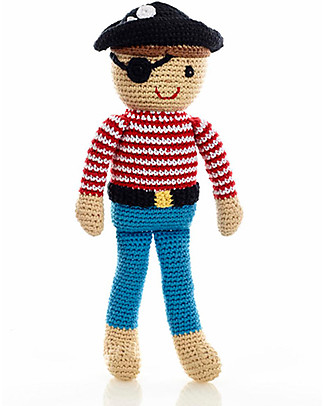 Pebble Once Upon a Time Pirate Crocheted Toy - Fairtrade - Approx 30 cm tall Soft Toys
