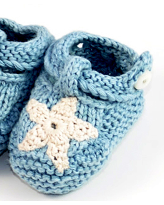 Pebble Organic Baby Bootie Dusky - Newborn - Egg Blue Slippers