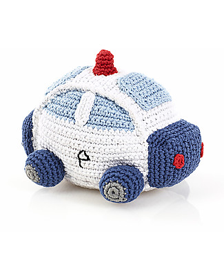 Pebble Police Car Rattle - Fair Trade Rattles