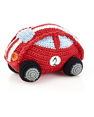 Pebble Red Racing Car Rattle - Fair Trade Rattles