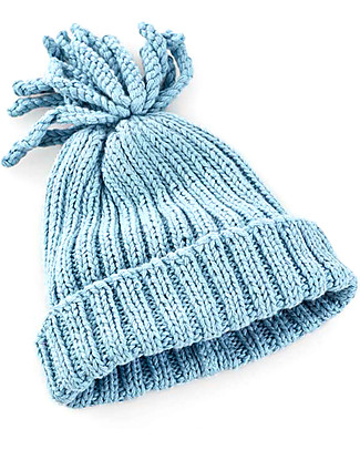 Pebble Rib Baby Hat, Duck Egg Blue - 100% organic cotton, fair-trade Hats