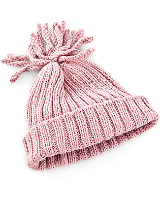 Pebble Rib Baby Hat, Dusky Pink - 100% organic cotton, fair-trade Hats