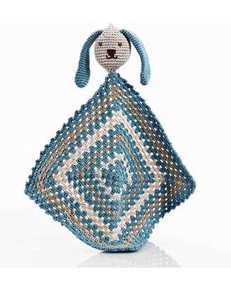 Pebble Sleepy Bunny Doudou - Blue - Organic Cotton Doudou & Comforters