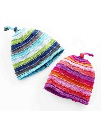 Pebble Striped Blue Hat Hats