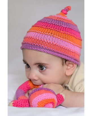 Pebble Striped Pink Hat - 100% Cotton Hats