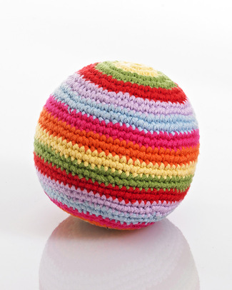 Pebble Stripey Crochet Rattle Ball - Multicolour Rattles