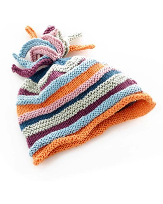 Pebble Stripey Hat Soft Orange - Organic & FairTrade Hats