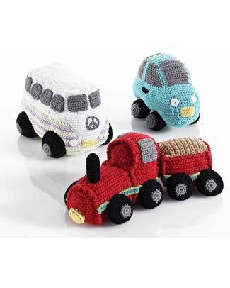 Pebble Turquoise Car Rattle - Fair Trade Rattles