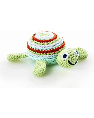 Pebble Turtle Rattle - Green - Fair Trade null