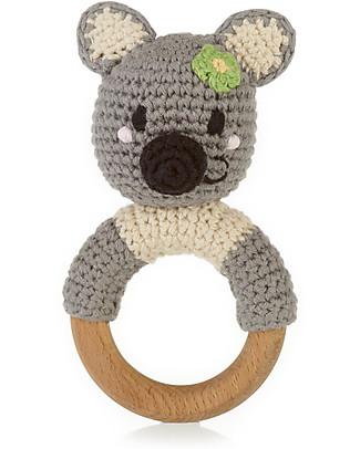 Pebble Wooden Teether Rattle - Koala - Fair Trade Rattles