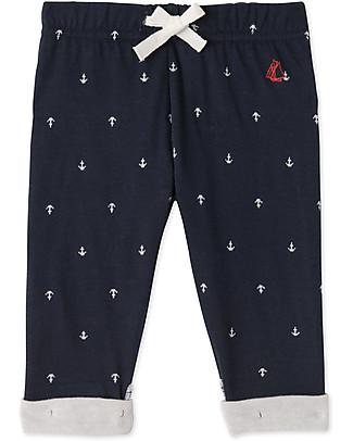 Petit Bateau Anchor Pants, Navy Trousers