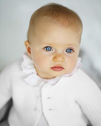 Petit Bateau Baby Cardigan, White Cardigans