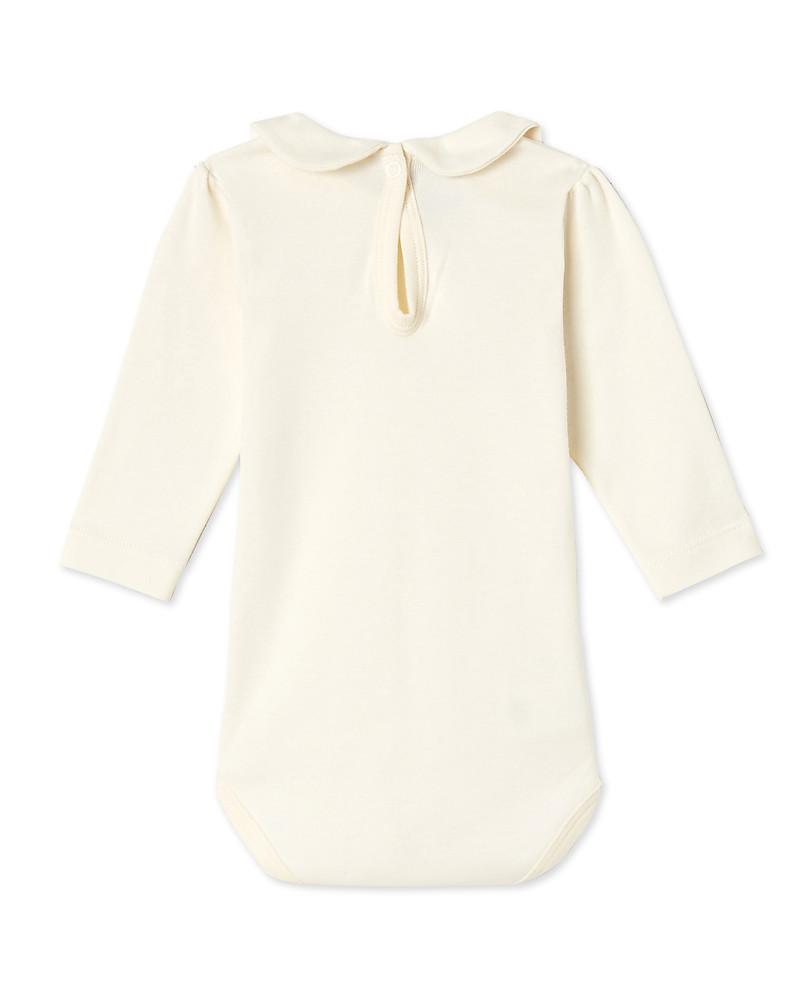 Petit Bateau Baby Girl Collar Long Sleeved Bodysuit 9f83ada4469