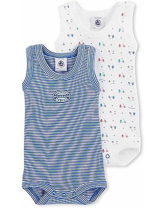 Petit Bateau Baby Slevelees Bodysuits – Pack of 2! Short Sleeves Bodies
