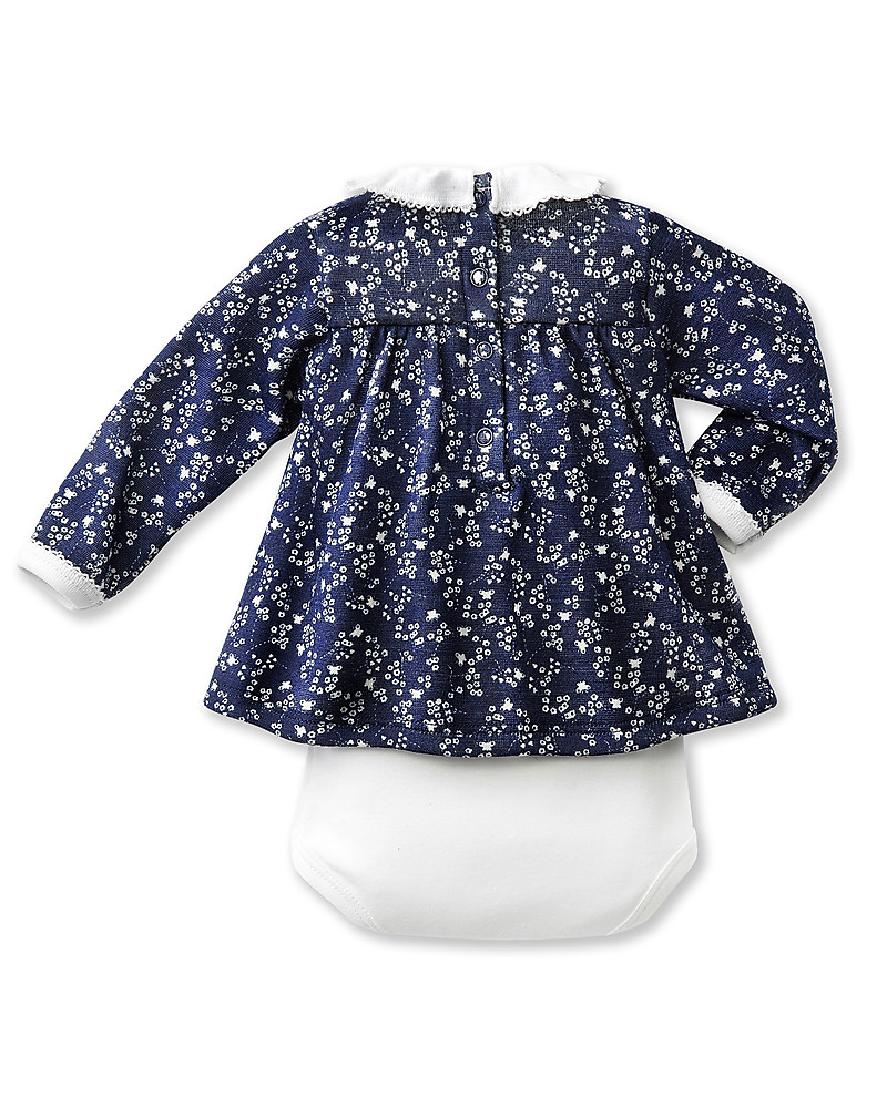 Petit Bateau Body with Blouse – Vichy Blue check – 2 in 1 Long Sleeves  Bodies ec68f1398ab