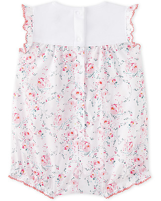 Petit Bateau Bodysuit with Roses, 100% Cotton - Perfect for Summer! Short Sleeves Bodies