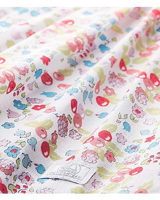 Petit Bateau Ci Claire, Bodysuit/Dress with Flowers - 100% cotone Short Sleeves Bodies