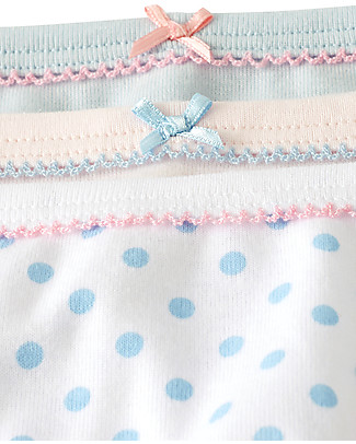 Petit Bateau Girl's Panties, 3-pack, Dots - 100% cotton Vests