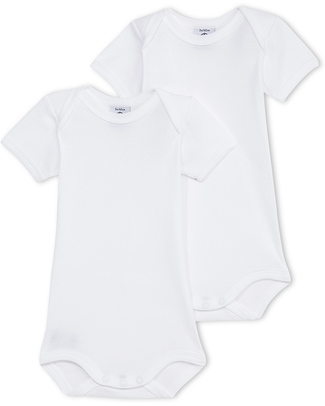 Petit Bateau Pack of 2 Sleeveless Bodies - 100% Cotton Short Sleeves Bodies