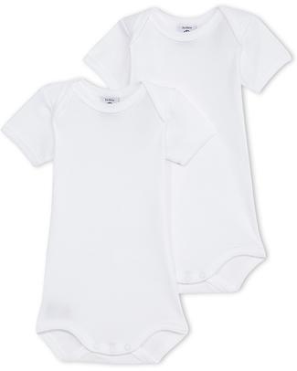 Petit Bateau Pack of 2 Sleeveless Bodies - 100% Cotton Short Sleeves Bodies