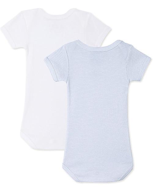 Petit Bateau Short-Sleeved Bodysuits (Set of 2) - Blue and White Stripes 4c3562c6a3a
