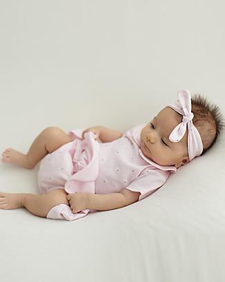 Petit Oh! Ana Dress, Sailaway (dress + knickers), Pink/Dots - 100% pima organic Sets And Co-Ords