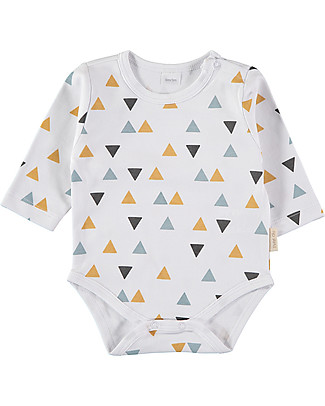 Petit Oh! Baby Basic Body with Long Sleeves, Pinos Mix Ice - 100% Pima Cotton Long Sleeves Bodies