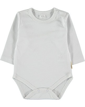 Petit Oh! Baby Basic Body with Long Sleeves, White - 100% Pima Cotton Long Sleeves Bodies