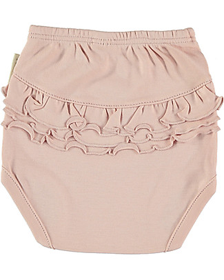 Petit Oh! Braguita Poppy Nappy Cover, Rose - Pima Cotton Shorts