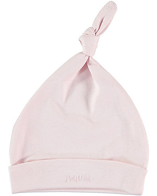 Petit Oh! Bruc Hat with Knot, Pink - Pima Cotton Hats