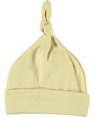 Petit Oh! Bruc Hat with Knot, Yellow - Pima Cotton Hats