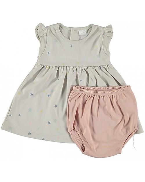 Petit Oh! Gala Dress and Nappy Cover, Galaxy - Pima Cotton Gift Set