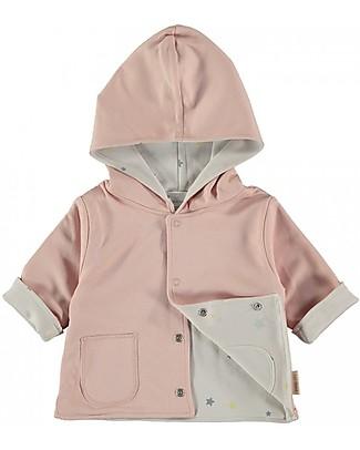 Petit Oh! Hooded and Reversible Amara Jacket, Rose - Pima Cotton Sweatshirts