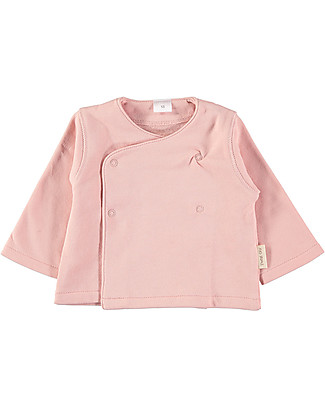 Petit Oh! Indi Newborn Jacket, Rose - Cotton Flannel Long Sleeves Tops