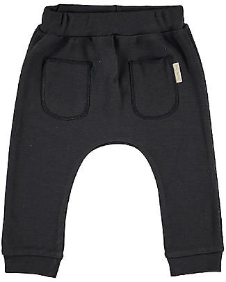 Petit Oh! Kim Long Pants, Iron - 100% Pima Cotton Trousers