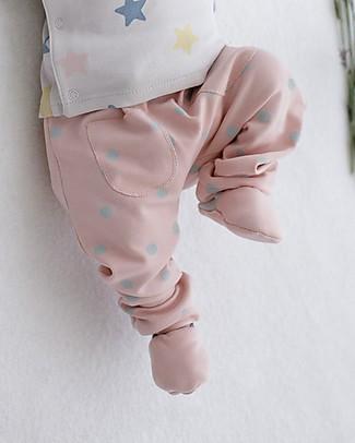 Petit Oh! Kim Long Pants, Rose/Aqua - Pima Cotton Trousers