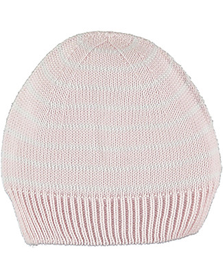 Petit Oh! Knitted Newborn Hat, Pink Stripes - 100% Cotton Hats
