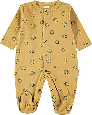 Petit Oh! Long Sleeved Pyjama, Ambar Hoop - 100% Pima Cotton Pyjamas