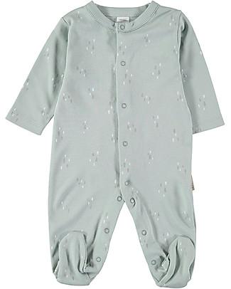 Petit Oh! Long Sleeved Pyjama, Aqua Drops - 100% Pima Cotton Pyjamas