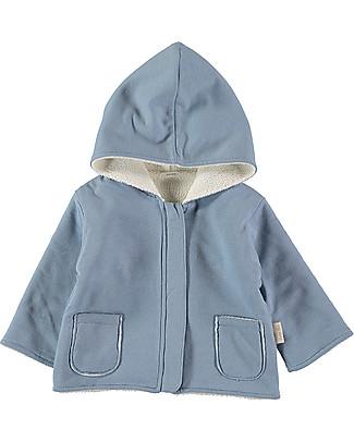 Petit Oh! Noni Fleece Coat, Ice - 100% Cotton Flannel Sweatshirts