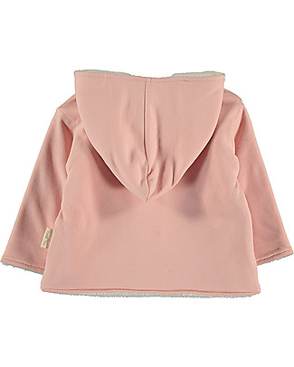 Petit Oh! Noni Fleece Coat, Rose - 100% Cotton Flannel Sweatshirts