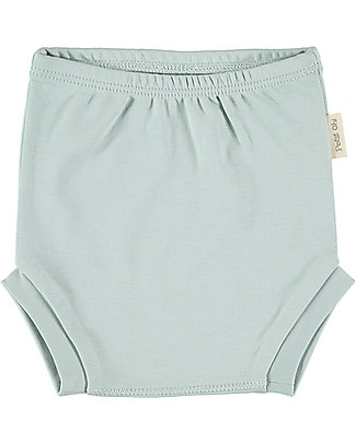Petit Oh! Ranita Nappy Cover, Aqua - Pima Cotton Shorts