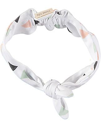 Petit Oh! Sena Girl Headband, Pinos Mix Rose - 100% Pima Cotton Hair Accessories