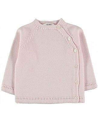 Petit Oh! Side Snap Knitted Sweater, Pink - 100% Cotton Cardigans