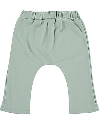 Petit Oh! Tom Long Pants, Aqua - 100% Cotton Flannel Trousers
