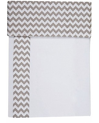 Picci 3-Pieces Bed Set for Lella Co-Sleeping Cot, Zig Zag Grey - Pillowcase, cover sheet and fitted sheet Bed Sheets