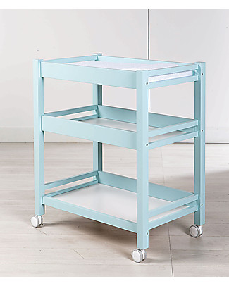 Picci 3-Shelves Changing Table with Mat, Aqua Changing Tables