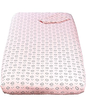Copripiumino Picci.Picci Piumetto Printed Textile Set For Nina Bed White Pink