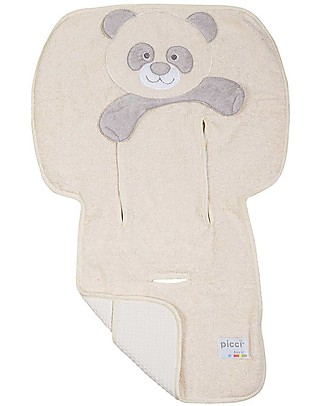 Picci Bo-Bo Reversible Stroller Cover, Beige - 100% cotton, terry + honeycomb Stroller Accessories